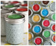Mason Jar Paint Storage | Mason Jar Crafts Love