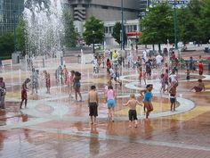 Centennial Olympic Park Fountain of Rings, Atlanta, Georgia