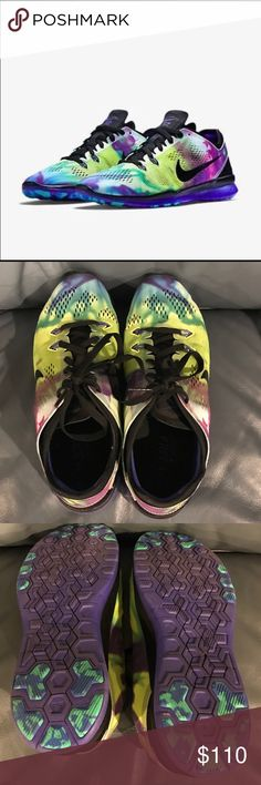 Nike 5.0 Tie Dye Excellent Condition Nike Free 5.0 Tie Dye Shoes. Multi-colored! Nike Shoes Athletic Shoes