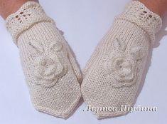 Дневник : LiveInternet - Российский Сервис ОнРKnitted Gloves, Knitting Socks, Fingerless Gloves, Crochet Flowers, Leg Warmers, Mittens, Free Pattern, Knit Crochet, Slippers