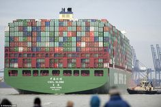 A total of 57,000 tons of cargo including food, drink, clothing, electrical goods and furn...