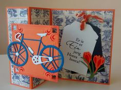 Elamiscartas 3d Cards, Folded Cards, Bicycle Cards, Stamping Up Cards, Marianne Design, Masculine Cards, Holland, Dutch, Stampin Up