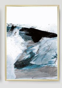 Abstract Art Print Set Set of 3 Prints Ocean Print digital Abstract Canvas Art, Abstract Print, Sea Art, Seascape Paintings, Large Wall Art, Printable Art, Art Prints, Artwork, Digital