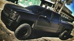 2014 Silverado matte black finish