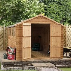 10x8 #wooden shed #garden 10ft x 8 ft overlap apex sheds #double door new un used,  View more on the LINK: 	http://www.zeppy.io/product/gb/2/121491460945/