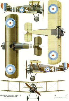 Sopwith Dolphin Page Air Fighter, Vintage Airplanes, World War One, Aviation Art, Fighter Aircraft, Model Airplanes, Panzer, Military Aircraft, Cutaway