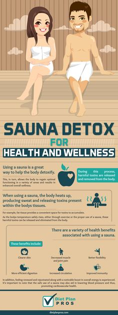 Sauna Detox for Health and Wellness: Using a sauna is a great way to help the body detoxify. During this process, harmful toxins are released and removed from the body. This, in turn, allows the body to regain optimal functioning in a variety of areas and results in enhanced overall wellness.  When using a sauna, the body heats up, producing sweat and releasing toxins present within the bodys tissues.