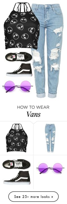 """""""Very cute, yet simple 42"""" by lollypopz951 on Polyvore featuring Topshop, Boohoo and Vans"""