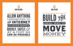 Mission & Vision Statement Posters - By Jeremiah Wingett