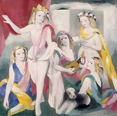 """""""Surround yourself with people who make you hungry for life, touch your heart, and nourish your soul."""" -Unknown  The Rehearsal,1936 #marielaurencin (1883-1956) #frenchartist #painter #printmaker #sculptor #illustrator #expressionism #surroundyourself #people #friends #individuals #hungryforlife #touchyourheart #nourishyoursoul #freedom #feelfreetobecreative"""