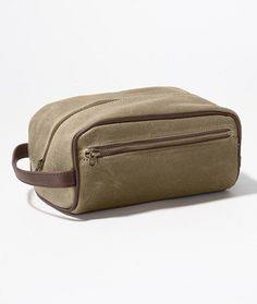 Signature Waxed-Twill Dopp Kit: Bags   Free Shipping at L.L.Bean-For Dad