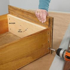 Rescue a Drawer - Drawer fronts that are just nailed or stapled to the drawer box often come loose or even fall off completely. You could simply pound the parts back together, but that kind of fix won't last long. For a repair that's stronger than the original construction, add a backer to the drawer front.Make the backer from 3/4-in. plywood and cut it to fit tight inside the drawer. Using a spade bit, drill 3/4-in.-diameter holes in the plywood so you can access the screws that hold the…