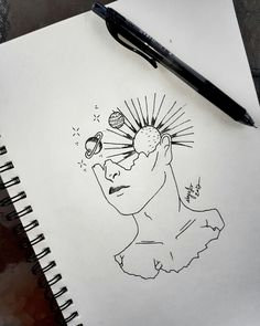 #original #drawing #art #tattoo #tattooart #sun #suntattoo #stars #starstattoo #galaxy #galaxytattoo #woman #girl #love #broken #penline #penlinetattoo #simple #simpletattoo #workart #noyaart