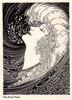 1937 Original DON BLANDING ART DECO Vintage Print THE SIREN VOICE