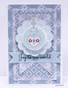 North Pole Joy to the World Card - Anita Bownds Purple Christmas, Beautiful Handmade Cards, Christmas Cards To Make, Joy To The World, Cardmaking, Card Stock, Paper Crafts, Crafty, North Pole