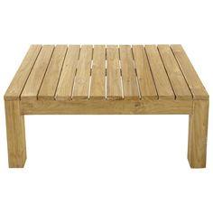 Table basse de jardin en teck L 102 cm