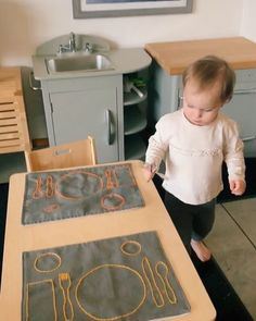 Item to look for - Montessori Weaning Table Items (Table, Chair, Placemat, Pitcher) Mobile Learning, Baby Learning, Learning Quotes, Pre K Activities, Montessori Activities, Baby Sensory Play, Infant Sensory, Baby Activity Chair, Ikea Kids Kitchen