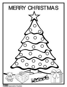 Christmas Coloring Page {FREEBIE}
