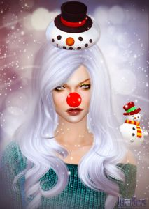 Jennisims: Downloads sims 4:Set Accessory Merry Christmas!! (Glasses,Nose,Reindeer,Earrings,Hat,Snowman)