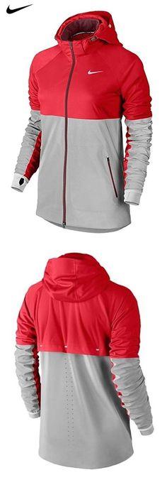 buy online f2afb 512db  99.99 - Nike Shield Flash Running Jacket Womens Size XL Red Silver 619026- 660
