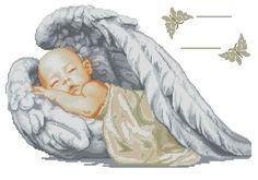 Bimbo con ali che dorme