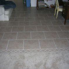 Tile floor in main room