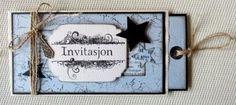 Innbydelse til konfirmasjon Invitations, Frame, Cards, Scrapbooking, Creative, Picture Frame, Save The Date Invitations, Maps, Scrapbooks