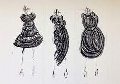 Fashion Sketchbook - fashion design drawings; dress sketches; fashion portfolio // Rhianna Morton