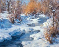 Clyde Aspevig winter landscape oil painting