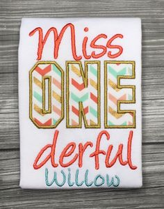 A personal favorite from my Etsy shop https://www.etsy.com/listing/251850756/miss-onederful-first-birthday