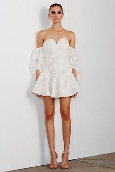 Shona Joy - Lucia Bustier Off The Shoulder Mini Dress In Ivory