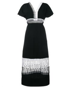 CHRISTOPHER KANE Loop-Lace Short Sleeve Midi Dress