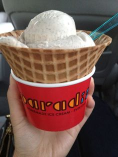 Paradis - Montrose, CA. Homemade Ice Cream. Salted Caramel is the best!