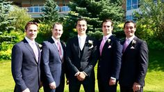 My brothers nik, Simon ,Charlie and piers and my brother/ fiancé Henry . It was a very sunny day for Charlie's wedding
