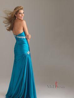 Trumpet/Mermaid Sweetheart Sweep Train Elastic Woven Satin Best-Selling Prom Dress