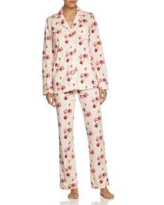 Lauren Ralph Lauren Notch Collar Knit Pajama Set   Bloomingdale's