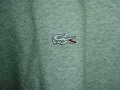 Lacoste Men s sweatshirt  crew neck silver chine    | eBay