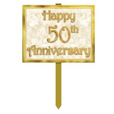 1 count 50th Anniversary Shimmering Spiral Party Accessory 1//Pkg