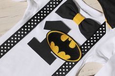 Hey, I found this really awesome Etsy listing at https://www.etsy.com/listing/166883251/batman-1st-birthday-outfit-with-cape