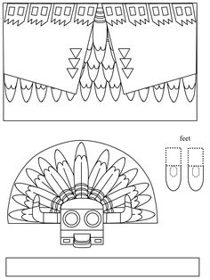 Kachina Doll Coloring Page From Native Americans Category