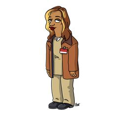 "Dayanara ""Daya"" Diaz from ""Orange is the new black"" / Simpsonized by ADN"