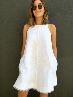 Ruby Dress/Top - this simple sleeveless top/dress features a high neckline, cutaway ar...