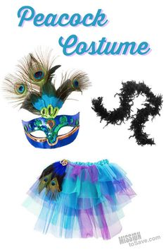 Teen Halloween Peacock Costume Accessories - Mission: to Save