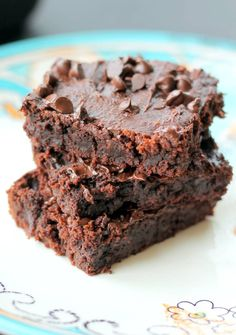 Ambitious Kitchen | Fudgy Peanut Butter Chocolate Chip Brownies {flourless, gluten free, vegan}