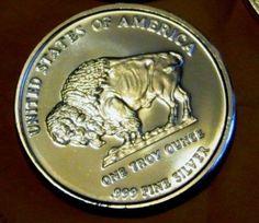 1 Ounce Silver Buffalo Round 999 Fine Bullion Spot Price