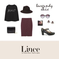 Burgundy chic #Shoes #Lince #Linceshoes #outfit #look