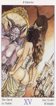 XV. The Devil - Tarot of Casanova by Luca Raimondo