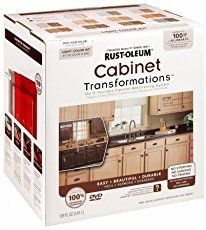 Rustoleum Cabinet Transformations kit -- 5 easy steps to repaint your kitchen cabinets -- no stripping or sanding required!