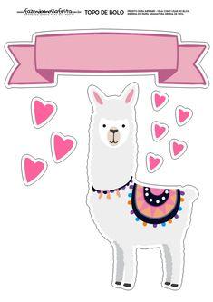Topo de Bolo Lhama 3 Printable Stickers, Printable Planner, Planner Stickers, Alpacas, Llama Birthday, Llama Alpaca, Theme Background, Kids Prints, Party Printables