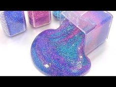 DIY How To Make Galaxy Glitter Slime Clay Learn Colors Baby Doll Orbeez Combine Bath - YouTube